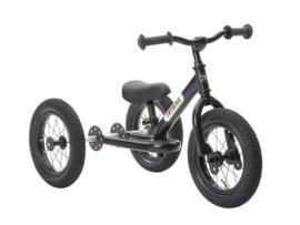 Trybike Steel 2 in 1 driewieler loopfiets zwart