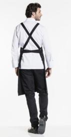 Chaud Devant Bib Apron Cross Black W75-L100