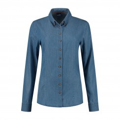 LCF Ledub Rosalie blouse lange mouw button down 8009462