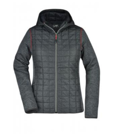 Ladies' Knitted Hybrid Jacket James Nicholson JN771