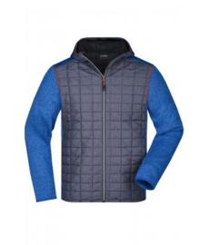Men's Knitted Hybrid Jacket James Nicholson JN772