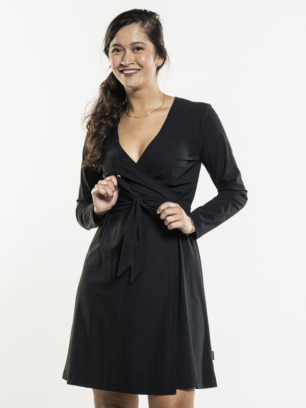 DRESS VANILLA BLACK 819 Chaud Devant