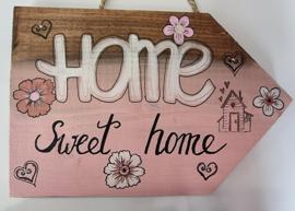 Ibizabord roze bruin  Home sweet home