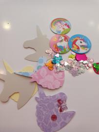 Los zakje unicorn paper paillettes klein