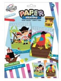 Piraten vlechten met papier