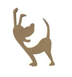 MDF Vrolijke staande hond