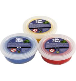 Silk Clay rood geel blauw