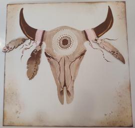 Canvas Skull Bull