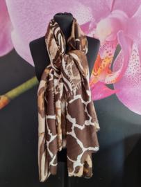 Sjaal in mooie bruine giraffe print