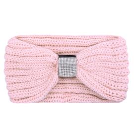 Haarband oud roze met steentjes