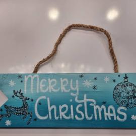 Christmas Aqua Merry Christmas