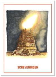 De vuurstapel van Scheveningen - Ansichtkaart