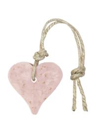 Zeep in hartvorm | oud roze met zemelen