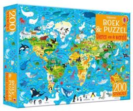 Dieren van de wereld | Boek & Puzzel