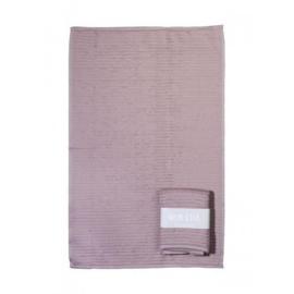 Keukenhanddoek met banderol | Oud roze
