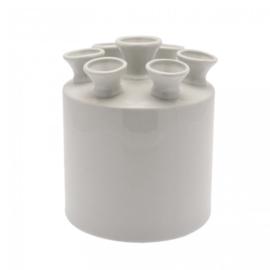 Tulpenvaas cilinder | Wit