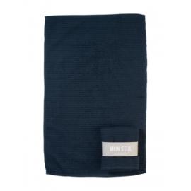 Katoenen theedoek | Jeansblauw
