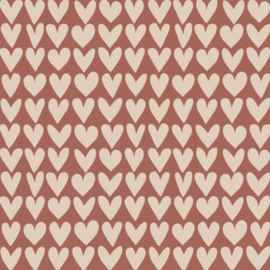 Cadeaupapier | Love - Red/Beige