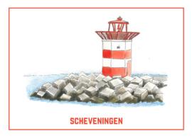 Het Havenhoofd  van Scheveningen - Ansichtkaart