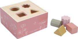 Houten vormenstoof | Roze