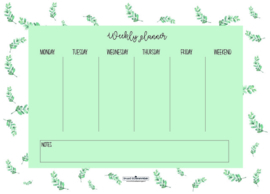 Weekly planner | Eucalyptus | A4 - Studio Scheveningen