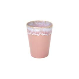 Latte kopje waves   pink