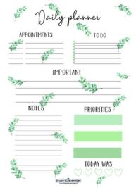 Daily Planner | Eucalyptus | A5
