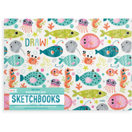 Doodle pad duo sketchbooks   Friendly Fish   Ooly