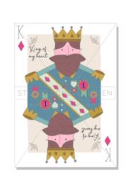 King of my heart | Valentijnsdagkaart