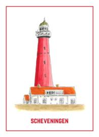 De Vuurtoren van Scheveningen - Ansichtkaart