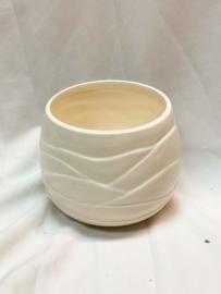 Pot met reliëf | Crème