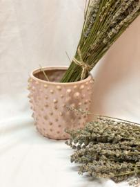 Stoneware flowerpot | Roze