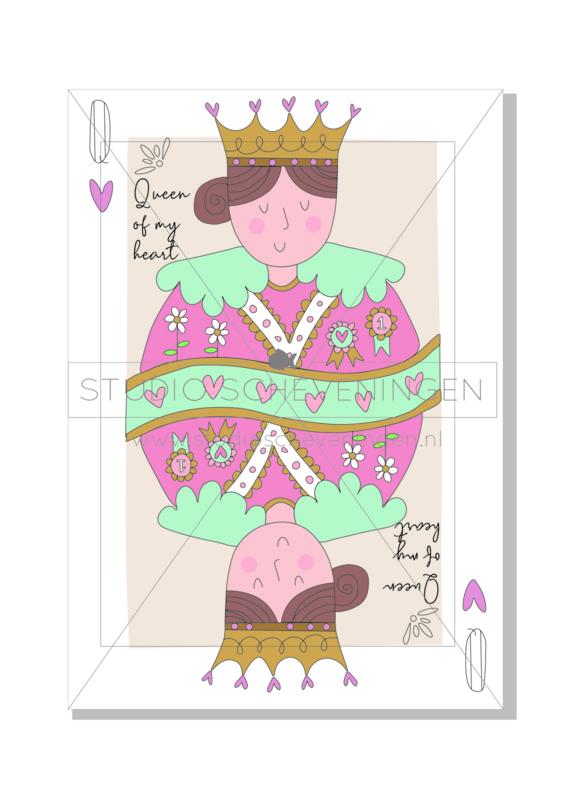 Queen of my heart | Valentijnsdagkaart