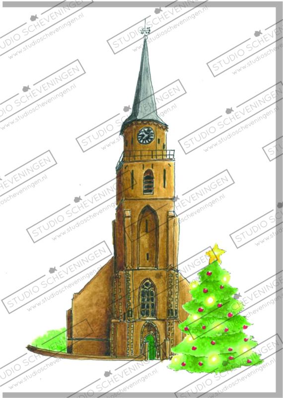 De oude kerk kerstkaart