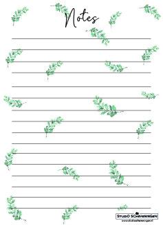 Notes A6 | Eucalyptus - Studio Scheveningen