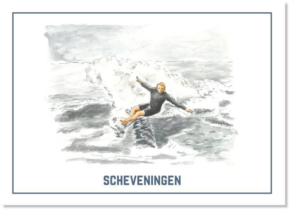 Surfer - Ansichtkaart