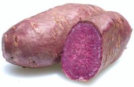 Zoete aardappel paars