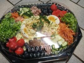 Scharrelei salade, 6 personen