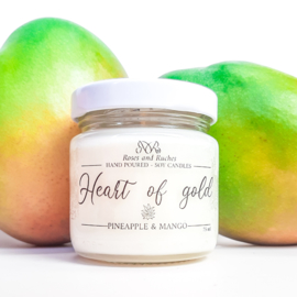 Soja geurkaars - Heart of gold, ananas en mango