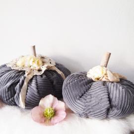 Pompoenen van stof - Set antraciet