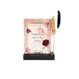 Flowergram met kaart - hartje zwart