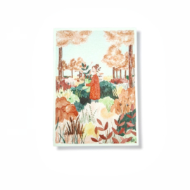 Carmens tekentafel kaart - Bloemen