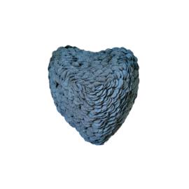 Kussen - Heart grey