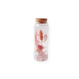Droogbloemen potje - S roze