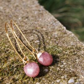 Oorhangers FRUIT goud - Dove pink