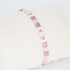 Armbandje Tila - Roze - Susies sieraden
