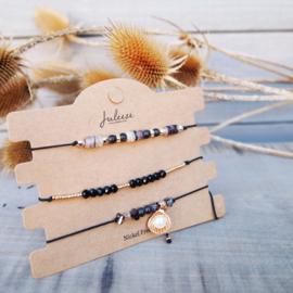 Armbandjes set - Zwart - Juleeze