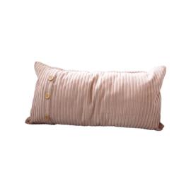 Kussen rib Dusty pink - 35x70 cm