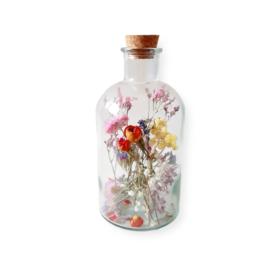 Droogbloemen in apothekers fles - L mix