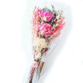 Droogbloemen boeket - S roze